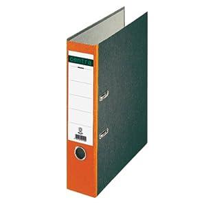 Leitz 220126 - Archivador estándar con Anillas A4 Lomo de Color Naranja