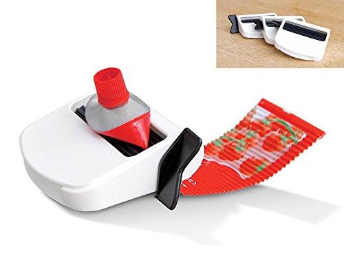 Tubfix - Exprimidor de pasta de dientes para el baño 3 piezas, apretador dispensador de tubo de crema facial, de pintura