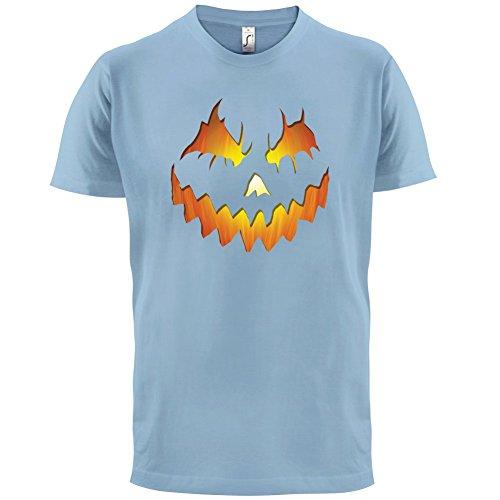 Halloween Pumpkin Face - Herren T-Shirt - 13 Farben Himmelblau