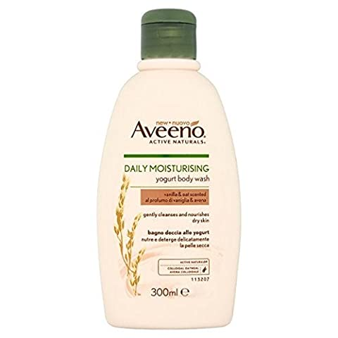Aveeno Daily Moisturising Yogurt Body Wash, 300 ml, Vanilla and Oat Scented
