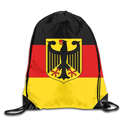 Drawstring Backpack Bags German State Flag Sport Athletic Gym Sackpack for Men Women (German Flag Bag)