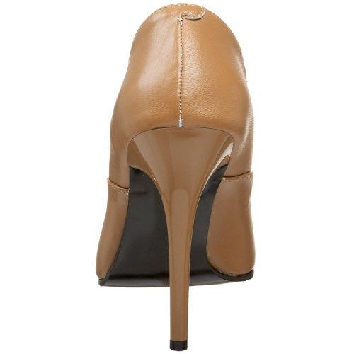 Pleaser Milan-01, Hoch femme Camel Leather