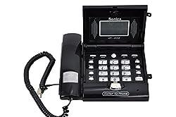 Sonics Caller ID Phone (Black) with extra locking facility