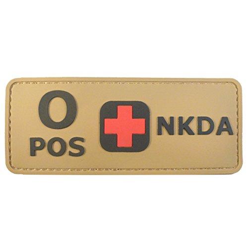Blutgruppen NKDA Desert AOR1 Tan PVC Gummi 3D Velcro Aufnäher Patch