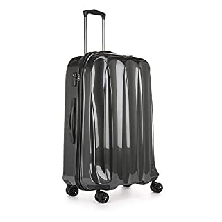 Antler Tiber Large Suitcase Charcoal, Size: 79 x 53 x 32