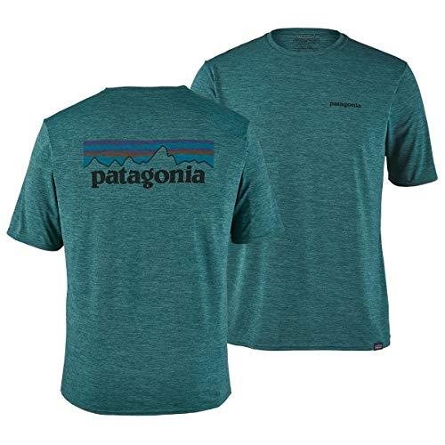 Capilene Shirt Für Herren (Patagonia Herren M's Cap Cool Daily Graphic Shirt Hemd, Blaugrün (Tasmanian Teal x-dye), M)