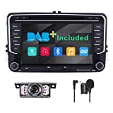 Double Din Car Stereo Radio DAB+(Included) for VW Golf Skoda Seat Passat Polo
