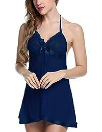 Bomshel Babydoll Women Nightwear Lingerie with Panty