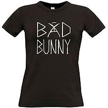 Camiseta Bad Bunny Blanca Mujer Trap Algodon Premium 190grs