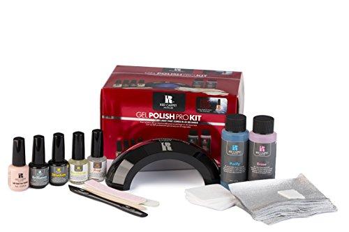 Red Carpet Manicure - Gel Polish Pro Kit - With LED Light (Polish Red Led Gel Carpet)