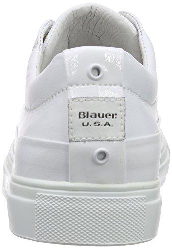 Blauer USA 6swocuptoe/Lea, Baskets Basses femme Blanc - Blanc