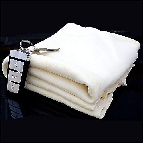 Trainshow® Autoleder Fensterleder Hochwertiges Naturleder-Reinigungstuch aus echtem Hirschleder für die Autowäsche und die Reinigung im Haushalt (12.6''X20'' (3-Pack)) -