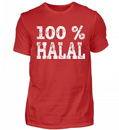 Hochwertiges Herren Shirt - Islam 100% Halal Geschenk Muslim Türkei Saudi Arabien Ramadan Islamische Kleidung für Muslime
