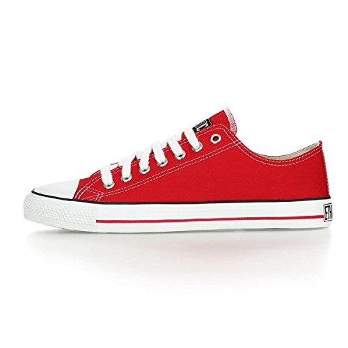 Ethletic Sneaker LoCut – rot / weiß aus Bio-Baumwolle, vegan & fair trade - 3