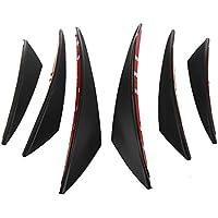 LiDiwee 6Pcs Universal Car Front Spoiler Bumper Roof Spoiler Wing Fiber Spoiler