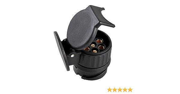 Mini Adapter für Anhaenger Zubehör 13 polig auf 7 Anhängerkupplung KFZ BWI