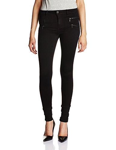 anshose Onlroyal Reg Zip Jeans Dnm Noos, Gr. 40/L30 (Herstellergröße: L), Schwarz (Enge Jeans Für Frauen)