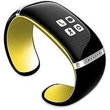 Cursonline® Reloj de Pulsera y Manos Libres con Bluetooth, Mp3, Nuevo Modelo con Slim Sincronizador, Rúbrica Podómetro, Pedometro, Las Calorías, Pantalla Oled mod. L12S Original