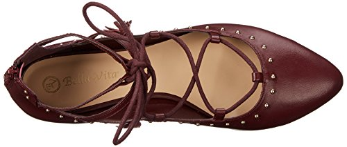 Bella Vita Ollie Femmes Cuir Chaussure Plate Burgundy