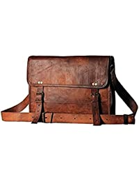 Pranjals House 15.6 Inch Rust Leather Laptop Bag
