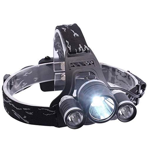 WMM 3 Lampenkopf 4 Modi LED Stirnlampe Fernlicht, nachladbare wasserdichte Scheinwerfer, for Camping Angeln Radfahren