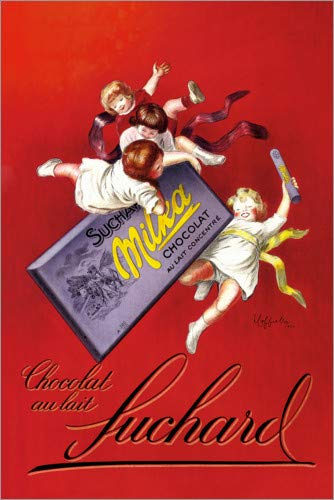 Posterlounge Holzbild 80 x 120 cm: Milka Schokolade (französisch) von Leonetto Cappiello/ARTOTHEK
