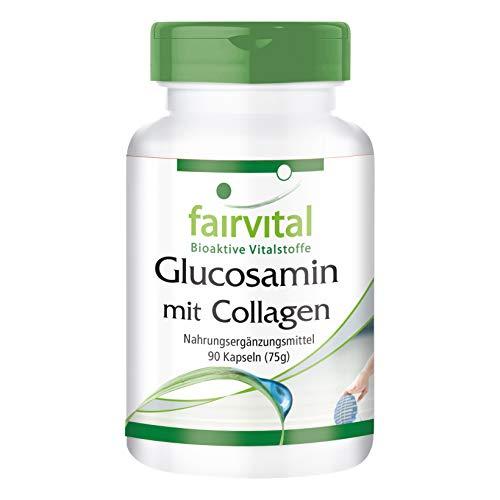 Glucosamine Collagène - 1 mois - dosage élevé - 90 Capsules