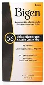 Bigen Permanent Powder Hair Color 56 Medium Brown 1 ea (Pack of 3)