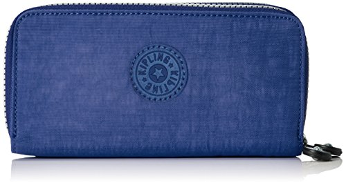 Kipling Uzario, Portafogli Donna, Blu (REF33V Jazzy Blue), 10x18.5x3.5 cm