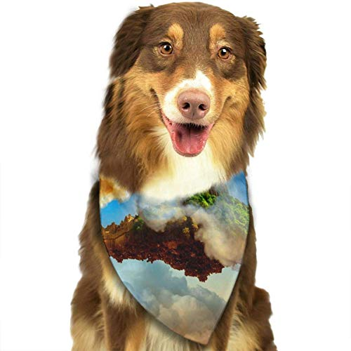Gxdchfj Fantasy City Dog Bandana Pet Accessories Easy Wash Scarf -