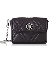 Tommy Hilfiger femme American Icon Mini Crossover Quilted Sac bandouliere Noir (Black)