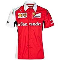 Puma Ferrari SF Team Shirt Men, Ferrari Formel1 Herren Hemd Alonso rot