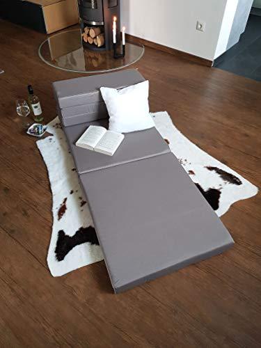 ZOLLNER Colchón Plegable para Invitados, 65x220 cm, Gris