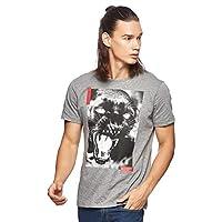 OVS Men's 191TSHMBP2-442 T-Shirt, Grey (Medium Grey Melange 911), Large