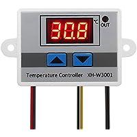 KKmoon XH-W3001 Contrôleur Thermostat Numérique Régulateur de Température Refroidissement et Chauffage Contrôle LED Pré-fil Commutateur Sonde avec Capteur 220V / 24V / 12V