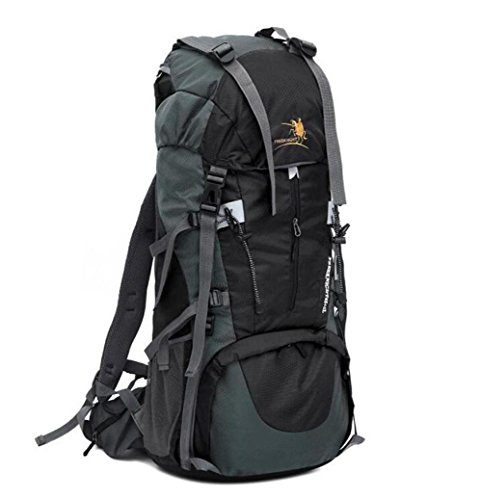 Wmshpeds Grande capacità 70L zaino uomini impermeabile antistrappo borsa alpinismo zaino grande E