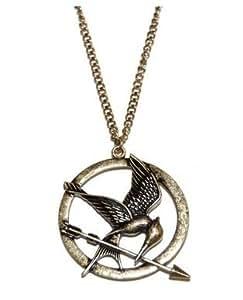 Fashion-Parure de Collier et Boucles d'oreilles en Bronze Antique en Forme de Motif de Hunger Games Ridicule Bird Style Tendance Chic
