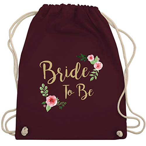 JGA Junggesellinnenabschied - Bride To Be - Unisize - Bordeauxrot - WM110 - Turnbeutel & Gym Bag