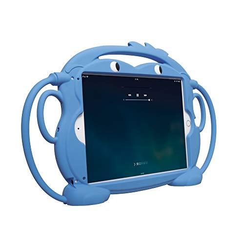 Ipad Air Cover, CHINFAI Doppelseitig AFFE Cartoon Shockproof Silikon Tablet schützende Haut,freistehende Kinder-Hülle für iPad 9.7 Zoll 5th / 6th / Pro/Air / Air2 Tablet Blue