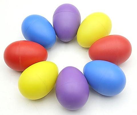 WINGONEER Percussion en plastique Oeuf musical Maracas Egg Shakers quatre couleurs 8pcs