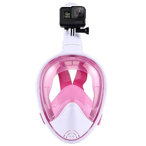 Puluz plongée masque sec Tuba de natation antibuée pour GoPro Hero5/4/3+/3/2/1camera L/XL rose