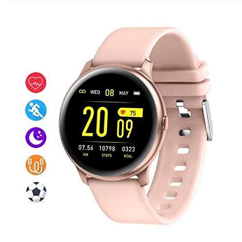 DFGH Smart Damen-Armbanduhr, Herzfrequenz, Blutdruck, Monitor, Männer, Sport, Fitness, Tracker, Smartwatch für Android iOS Pink