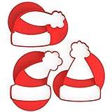 3DREAMS - Juego de 3 moldes para Galletas, diseño de Gorro de Papá Noel con