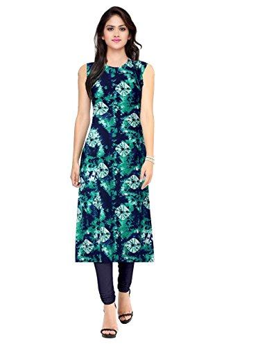 Pramukh Fashion Women\'s crape kurtis (1057)_Free Size semi stich
