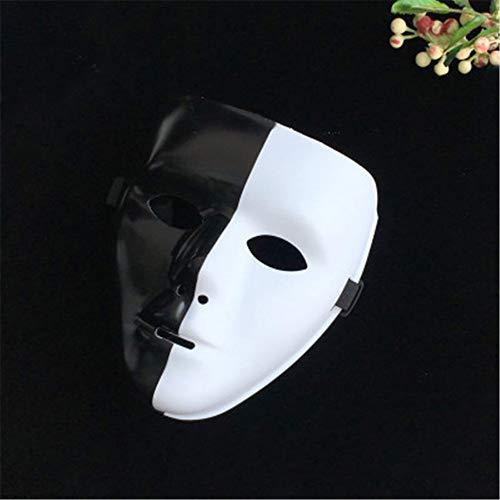 NUOKAI Halloween Horror Show Maske Maske Männlich Street Dance Handbemalte Maske Tänzerin Schwarz Vendetta Maske, Yin Yang Maske