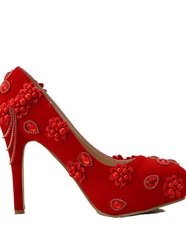 WSS 2016 Chaussures de mariage-Rouge-Mariage / Habillé / Soirée & Evénement-Talons-Talons-Homme 4in-4 3/4in-us8.5 / eu39 / uk6.5 / cn40