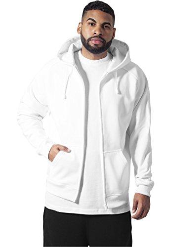 urban classics zip hoodie white