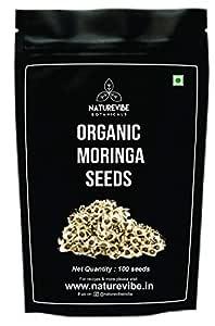 Naturevibe Botanicals Organic Moringa Seeds - 100 Seeds