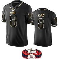 2020 niños y Adultos último Uniforme de Camiseta de fútbol Americano de Oro Negro más Popular, Kit de Rugby Superior de 8 números de Jones Giants, Pulsera-L