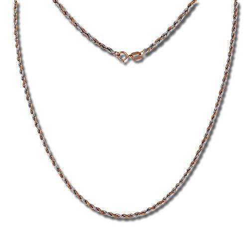 SilberDream Collier 45cm Damen 333 Gelbgold Halsschmuck Zopf rosegold D3GDK00245T 333 Zopf